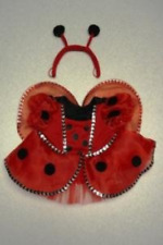 """Ladybug Costume with Wings Outfit Teddy Bear Clothes Fits Most 14"""" - 18"""" and Own"""