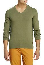 BEN SHERMAN Cotton V-Neck Sweater in Seaweeed Green Sz.Medium  NWT $95