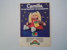 advertising Pubblicità 1984 BAMBOLA CAMILLA SEBINO