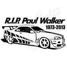 PAUL WALKER NOVELTY CAR VAN BIKE VINYL DECAL STICKER 9.5x18.5cm aprox