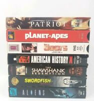 90's SciFi/Drama VHS Tapes Aliens Swordfish Shawshank Redemption Doors Lot of 7