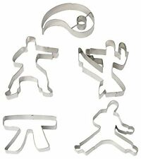 Fox Run Brands 36034 5-Piece Karate Cookie Cutter Set, Tinplated Steel , New, Fr