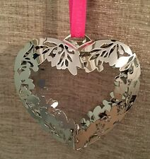 GEORG JENSEN CHRISTMAS DECORATION MOBILE 2015 - HEART -SILVER - STUNNING - Boxed