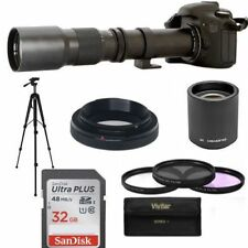 TELEPHOTO ZOOM LENS 500-1000MM +32GB CARD FOR CANON EOS REBEL T3 T3I T5 T5I T2