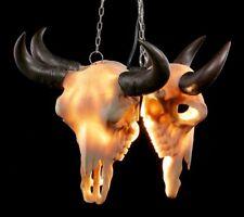 Lámpara de techo - TRES Cráneo toro por Markus Mayer - Gothic Western rinderkopf