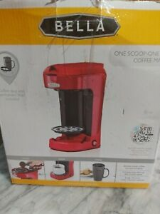 Bella 13711 - Red One Cup Coffee Maker new open box