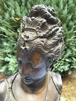 Buste Bronze Féminin Femme Début XIX Feminine bust 19 ème