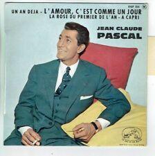Jean-Claude PASCAL Vinyle 45T EP 1 AN DEJA -AMOUR COMME UN JOUR VM 554 Languette