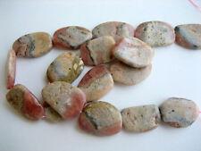 Peru rhodochrosite free form flat nuggets 15x25mm