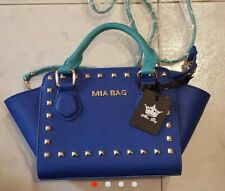 Borsa Mia Bag Blu e turchese nuova con tracolla cartellino moda donna regalo