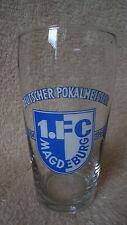 Bierglas 1. FC Magdeburg Deutscher Pokalmeister 1963/64 1964/65