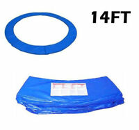 14FT Blue Trampoline Pad Spring Safety Cover Replacement Round Frame