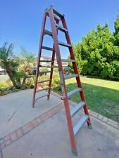 Louisville Ladder 8 Ft Fiberglass Twin Step Ladder With 300 Lbs Load Capacity