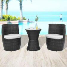 vidaXL Garden Furniture Set 5 Piece Poly Rattan Wicker Black Outdoor Dining