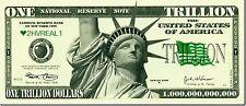 10 FAKE TRILLION DOLLAR BILLS NOTES FUNNY PRANK MENS BOYS TOY UNUSUAL GIFT
