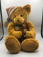 Official Russ Berrie Logan Brown Teddy Bear Scarf Plush Kids Stuffed Toy Animal