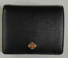 New Kate Spade new York Nadine small Bifold wallet Leather Black / Dolce