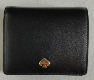 New Kate Spade New York Nadine small Bifold wallet Leather Black