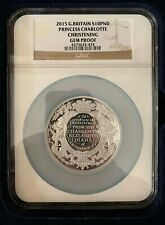2015 Great Britain 10 Pound HRH Princess Charlotte 5oz Silver Proof Coin NGC GEM