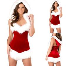 Women Christmas Costumes Sexy Santa Claus Fur Dresses Woman Xmas Party Costume