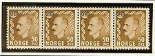 Norway 348 Strip (4) Mint Nh King Haakon Vii
