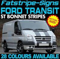FORD TRANSIT ST BONNET STRIPES GRAPHICS STICKERS DECALS MK6 MK7 M SPORT DAY VAN