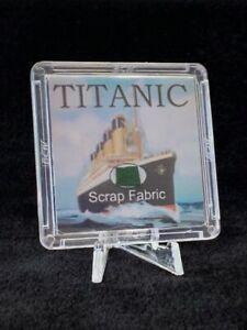 RMS Titanic Fabric Relic w/ COA & stand. Shipwreck artifact. White Star Line