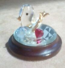 Hadrian, A Touch of Gold Small Glass Dove with Red Heart on mirror.
