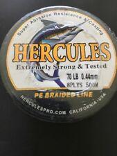 500M 547Yds Black 70 lb Hercules PE Dyneema braid Fishing Line. AC