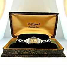 Vintage Garland Watch 6 Jewels Watch Stainless Steel Case and Band with Original