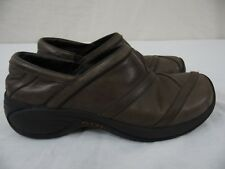 MERRELL Eclipse Smooth Bug Brown WOMENS 7 Pull-on Loafers Moccasins Walking Shoe