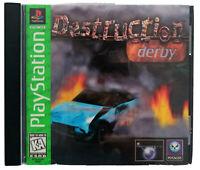 PlayStation Destruction Derby Manual Included