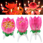 Amazing Flower Lotus Lights Music Musical Birthday Candle Cake Topper Gift Decor