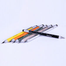 5 in 1 EDC Touchpen Ball Pen Multi-function Pen with Ruler Screwdriver #Black