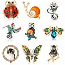 New Animal Insect Owl Bee Butterfly Brooch Pin Women Party Jewelry