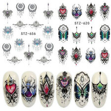 2 Sheets Jewelry Necklace Butterfly Chain Water Transfer Nail Art Stickers Decal