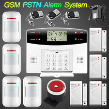 LCD Wireless GSM PSTN SMS Home Office Security Alarm System Burglar Alarm 433Mhz