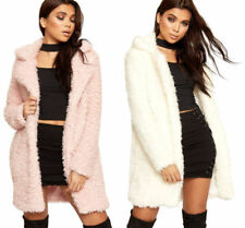 Polyester Shaggy Coats & Jackets for Women