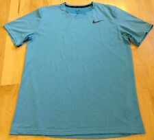 Nike Drive Fit Men's Blue Short Sleeve Athletic Shirt Size L