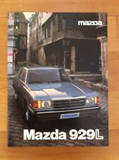 1980 MAZDA 929 Lund 929 L variable rare allemand Prospectus Broschure