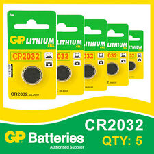 GP Batteria al Litio Bottone CR2032 (DL2032) Scheda di 5 [Watch & CALCOLATRICE + altri]