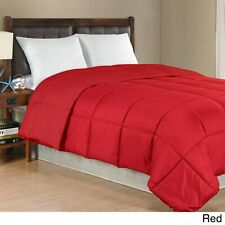 New 1 Piece Red Solid Comforter Cotton 600 TC US Microfiber Fill Heavy Weight