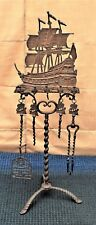 Antique Brass Nautical Fireplace Stand Implement Tool Don Fermando Circa 1930's
