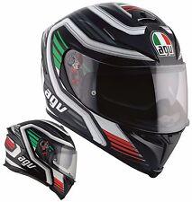 CASCO MOTO INTEGRALE AGV K5 S PINLOCK FIBRA FIRERACE BLACK ITALY ITALIA TG L