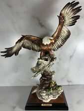 Rare Giuseppe Armani Eagle on Branch #999S, Porcelain Figurine -1985-Capodimonte