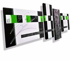 Mk1 Art Imagen Lienzo Abstracto Cuadro Arte Pintura Acrílico Imágenes Verde XXL