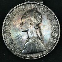 Italy 500 Lire 1958 R ~ Silver- Gorgeous Toned- KM#98 Columbus Ship Coin. #2