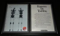 Kareem Abdul Jabbar 1986 Toshiba Framed ORIGINAL Advertising Display Lakers