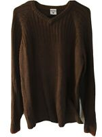 Columbia Mens Sweater Pull Over Knit Brown Size L