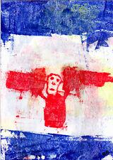 regrets e9Art ACEO Angel Skull Death Outsider Art Brut Abstract Figurative Paint